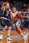 BROOKINGS, SD - OCTOBER 30:  Kerry Young #10 from South Dakota State University drives to the basket against Megan Rohrer #33 from South Dakota School of Mines in the first half of their exhibition game Thursday night at Frost Arena in Brookings. (Photo by Dave Eggen/Inertia)