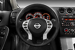 Steering wheel detail view of a 2008 Nissan Altma Coupe