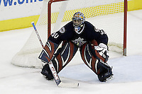 16 January 2006: Columbus Blue Jackets' Marc Denis plays against the New York Rangers at Nationwide Arena in Columbus, Ohio.<br />