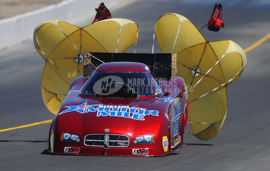 Jul. 25, 2009; Sonoma, CA, USA; NHRA funny car driver Matt Hagan during qualifying for the Fram Autolite Nationals at Infineon Raceway. Mandatory Credit: Mark J. Rebilas-