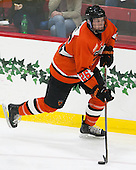 Ryan Siiro (Princeton - 26) - The Harvard University Crimson defeated the visiting Princeton University Tigers 5-0 on Harvard's senior night on Saturday, February 28, 2015, at Bright-Landry Hockey Center in Boston, Massachusetts.