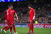 Serge Gnabry of Bayern Munich celebrates scoring his 3rd goal during the UEFA Champions League group match between Tottenham Hotspur and Bayern Munich at Wembley Stadium, London, England on 1 October 2019. Photo by Andy Rowland.