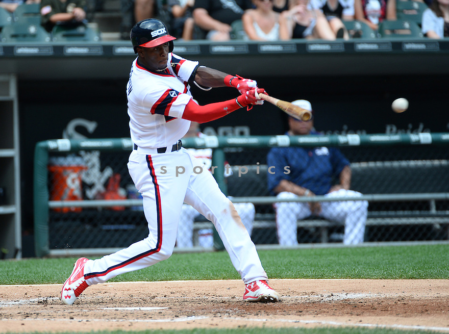 Chicago White Sox Tim Anderson (12) during a game against the Detroit Tigers on July 24, 2016 at US Cellular Field in Chicago, IL. The White Sox beat the Tigers 5-4.