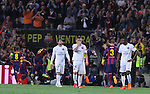 21.04.2015 Barceloona. UEFA Champions League, Quarter-finals 2nd leg. Picture show PSG players in action during game between FC Barcelona against Paris Saint-Germain at Camp Nou