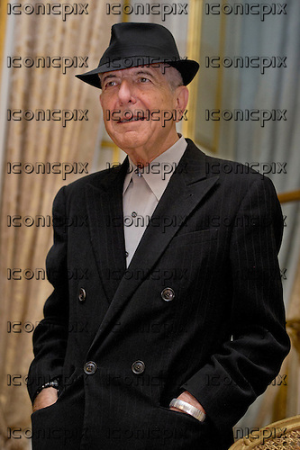 """Leonard COHEN - photographed during promotion for his new album """"Old Ideas"""" whilst in Paris France - 16 Jan 2012.  Photo Credit : Verhnet/Dalle/Iconicpix **AVAILABLE FOR UK ONLY**"""