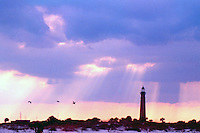 View of the Ponce INlet lighthouse at Sunset, Ponce Inlet, FL.  (Photo by Brian Cleary/www.bcpix.com)