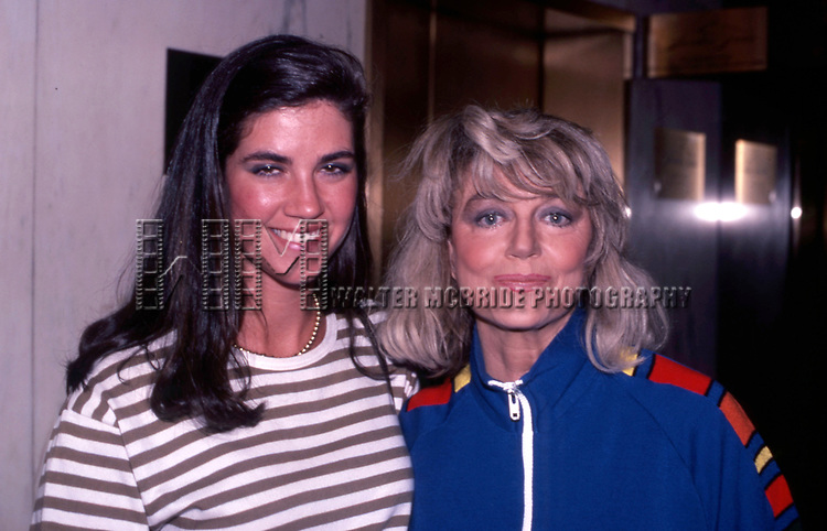 Dorothy Malone  and daughter Mimi Bergerac attend The National Film Society's Eighth Annual Artistry in Cinema Awards on September 25, 1983 at The Sheraton Centre's Imperial Ballroom in New York City.