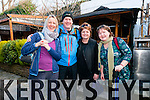 Catherine O'Reilly, Seamus Cossie Fitzgerald, Carole Boyland and Deirdre Walsh at the Dingle Walking Festival over the weekend.