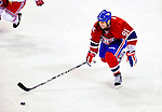 23 January 2010: Montreal Canadiens' center Scott Gomez leads a rush up ice against the New York Rangers at the Bell Centre in Montreal, Quebec, Canada. The Canadiens shut out the Rangers 6-0. Mandatory Credit: Ed Wolfstein Photo