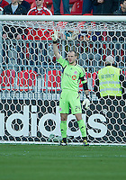 07 May 2011:Toronto FC goalkeeper Stefan Frei #24 in action during an MLS game between the Houston Dynamo and the Toronto FC at BMO Field in Toronto, Ontario..Toronto FC won 2-1.