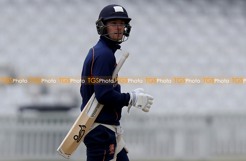 Robbie White of Essex returns to the dressing room having finished net practice during Surrey CCC vs Essex CCC, Specsavers County Championship Division 1 Cricket at the Kia Oval on 13th April 2019