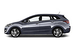 Car Driver side profile view of a 2015 Hyundai I30 Go 5 Door Wagon Side View