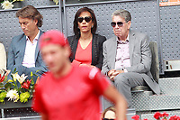Spanish tennis legend Manolo Santana and his wife Claudia Rodriguez during Madrid Open Tennis 2018 match. May 7, 2018.(ALTERPHOTOS/Acero) /NortePhoto.com