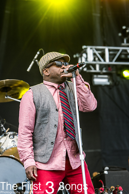 Corey Glover of Living Colour performs during the 2014 Rock On The Range festival at Columbus Crew Stadium in Columbus, Ohio.