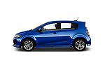 Car Driver side profile view of a 2019 Chevrolet Sonic LT-RS-Automatic Door Hatchback Side View