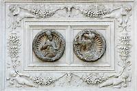Bassorilievi sulla facciata della Chiesa di San Zaccaria a Venezia.<br /> Bas-reliefs on the facade of the Church of San Zaccaria (St. Zacharias) in Venice.<br /> UPDATE IMAGES PRESS/Riccardo De Luca