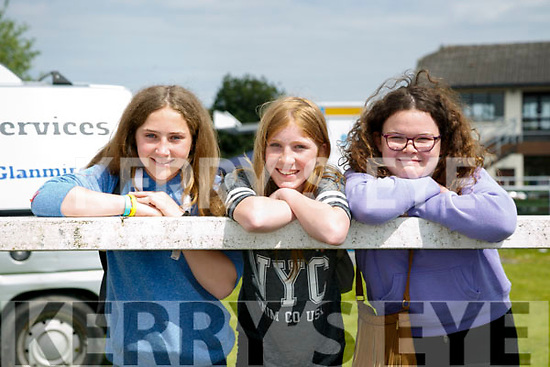 At the Kingdom County Fair in Ballybeggan on Sunday were Sive Morrison, Eve Morrison and Nesha Shanahan from Ardfert and Listellick