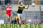 Mark Ryan Kerry in action against Derry in the All Ireland Minor Quarter Final at Croke Park on Sunday.