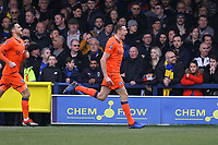 Murray Wallace of Millwall celebrates his goal in the first half during AFC Wimbledon vs Millwall, Emirates FA Cup Football at the Cherry Red Records Stadium on 16th February 2019