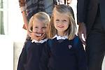 MADRID (15/(09/2010).- Crown Prince Felipe and Princess Letizia take their daughters Princess Leonor and Princess Sofia to Santa Maria de los Rosales School...Photo: Cesar Cebolla / ALFAQUI