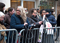 January 12 2018, Paris, France - Funerals of Singer France Gall in Montmartre Cemetery in Paris. # OBSEQUES DE FRANCE GALL AU CIMETIERE DE MONTMARTRE