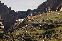 Portella della Ginestra, 18 Dicembre 2005.Un tratto della superstrada Palermo-Sciacca