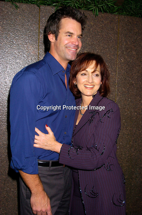 Tuc Watkins and Robin Strasser..at the 12th Annual Gala for The League for the Hard of Hearing called Feast With Famous Faces on October 18, 2004 at JP Morgan Chase. ..Photo by Robin Platzer, Twin Images