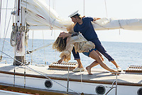 MAMMA MIA! HERE WE GO AGAIN (2018)<br /> LILY JAMES, JOSH DYLAN<br /> *Filmstill - Editorial Use Only*<br /> CAP/FB<br /> Image supplied by Capital Pictures