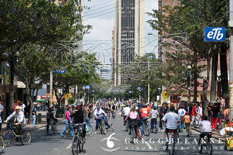 Ciclovia Car-free Street Festival - Bogota - Colombia<br />