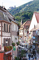 main street ch. st ulrich in back ribeauville alsace france