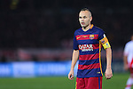 Andres Iniesta (Barcelona), <br /> DECEMBER 20, 2015 - Football / Soccer : <br /> FIFA Club World Cup Japan 2015 <br /> Final match between River Plate 0-3 Barcelona  <br /> at Yokohama International Stadium in Kanagawa, Japan.<br /> (Photo by Yohei Osada/AFLO SPORT)