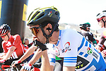 Adam Yates (GBR) Mitchelton-Scott pensive before the start of Stage 4 of the Volta Ciclista a Catalunya 2019 running 150.3km from Llanars (Vall De Camprodon) to La Molina (Alp), Spain. 28th March 2019.<br /> Picture: Colin Flockton | Cyclefile<br /> <br /> <br /> All photos usage must carry mandatory copyright credit (© Cyclefile | Colin Flockton)