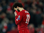 Dejected Mohamed Salah of Liverpool during the UEFA Champions League match at Anfield, Liverpool. Picture date: 11th March 2020. Picture credit should read: Darren Staples/Sportimage