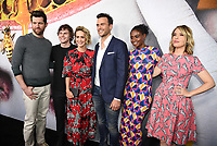 "BEVERLY HILLS, CA - APRIL 6: (L-R) Billy Eichner, Evan Peters, Sarah Paulson, Cheyenne Jackson, Edina Porter, and Leslie Grossman attend the For Your Consideration Red Carpet event for FX's ""American Horror Story: Cult"" at the WGA Theater on April 6, 2018 in Beverly Hills, California. (Photo by Frank Micelotta/Fox/PictureGroup)"