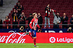 Antoine Griezmann of Atletico de Madrid celebrates his second goal during the La Liga 2017-18 match between Atletico de Madrid and CD Leganes at Wanda Metropolitano on February 28 2018 in Madrid, Spain. Photo by Diego Souto / Power Sport Images