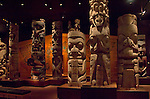 Victoria, British Columbia, Vancouver Island, Royal British Columbia Museum, First Nations, totem poles, Indian totem poles,