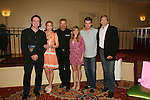 BREAKFAST: Frank Dicopoulos, Gina Tognoni, Robert Newman, Marcy Rylan, Jeff Branson, Grant Aleksander at the VP GL Breakfast followed by a meet and greet and later that day the 4th Annual Fashion Show Luncheon on April 26, 2009 to benefit Young Women's Cancer Awareness Foundation at Embassy Suites Hotel, Coraopolis (near Pittsburgh). (Photo by Sue Coflin/Max Photos)