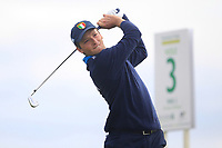Stefano Mazzoli of Team Italy on the 3rd tee during Round 3 of the WATC 2018 - Eisenhower Trophy at Carton House, Maynooth, Co. Kildare on Friday 7th September 2018.<br /> Picture:  Thos Caffrey / www.golffile.ie<br /> <br /> All photo usage must carry mandatory copyright credit (&copy; Golffile | Thos Caffrey)