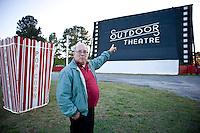 Owner Jim Kopp of Raleigh Road Drive-in in Henderson, NC.