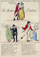 BNPS.co.uk (01202 558833)<br /> Pic: JanBondeson/BNPS<br /> <br /> The Monster Detected, a satirical print depicting him as the Devil.<br /> <br /> A historian has shed new light on a little-known predator who terrorised London's streets a century before Jack the Ripper.<br /> <br /> The despicable culprit - dubbed The Monster - targeted well dressed young women by stabbing them in the thigh or buttocks.<br /> <br /> His reign of terror lasted for the first half of 1790, with him clocking up six victims on a single day. Other women were kicked from behind with spikes fastened to his knees, while some were stabbed in the nose by a spike hidden in a bouquet they were invited to smell.<br /> <br /> By the time The Monster was finally apprehended, his tally of traumatised victims was over 50. He was unmasked as disgraced Welsh ballet dancer Rhynwick Williams, who was kicked out of the theatre after committing theft and descended into the capital's seedy underworld.<br /> <br /> Historian Dr Jan Bondeson has written about him in his book 'The London Monster: Terror on the Streets', and also contributed to an upcoming film on the sinister episode.