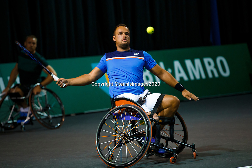 Rotterdam, The Netherlands, 11 Februari 2020, ABNAMRO World Tennis Tournament, Ahoy, <br /> Wheelchair tennis: Tom Egberink (NED).<br /> Photo: www.tennisimages.com