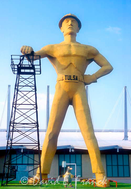 Giant Oil Man Sculpture at the old Worlds Fair in Tulsa OK