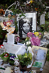 Legendary French singer Serge Gainsbourg's grave in Montparnasse Cemetery, Paris.