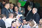 Ronaldo Nazario, Luis Figo and Florentino Perez of Real Madrid during the match of La Liga between Real Madrid and Futbol Club Barcelona at Santiago Bernabeu Stadium  in Madrid, Spain. April 23, 2017. (ALTERPHOTOS)