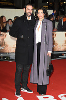 LONDON, UK. November 28, 2016: Robert Pires &amp; Jessica Lemarie at the &quot;I Am Bolt&quot; World Premiere at the Odeon Leicester Square, London.<br /> Picture: Steve Vas/Featureflash/SilverHub 0208 004 5359/ 07711 972644 Editors@silverhubmedia.com