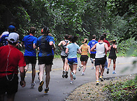 Runners go through the UW Arboretum during the Madison Mini-Marathon on Saturday, 8/21/10, in Madison, Wisconsin
