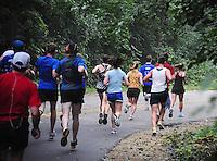 Runners go through the UW Arboretum during the Madison Mini-Marathon on Saturday, 8/21/10, in Madison, Wisconsin