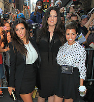 "Kim Kardashian, Khloe Kardashian and Kourtney Kardashian on "" Good Morning America "" - New York"