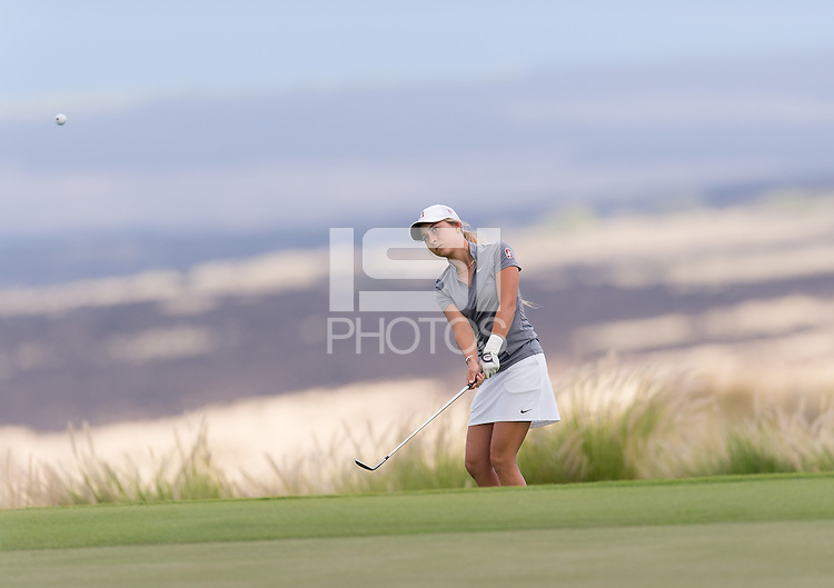 Kailua Kona, HI - October 24, 2016: The Stanford Cardinal compete at the PAC 12 Women's Golf Preview at Nanea Golf Club.