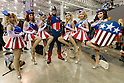 Cosplayers pose for a photograph during the Tokyo Comic Con at Makuhari Messe International Exhibition Hall on December 3, 2016, Tokyo, Japan. Tokyo's Comic Con is part of the San Diego Comic-Con International event and is being held for the first time in Japan from December 2 to 4, 2016. (Photo by Rodrigo Reyes Marin/AFLO)